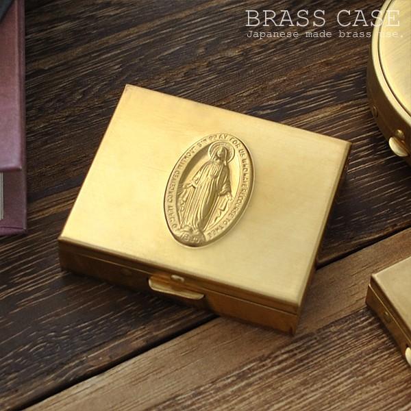 ピルケース アクセサリーケース マリアモチーフ 国産真鍮ケース Mサイズ イメージ写真01