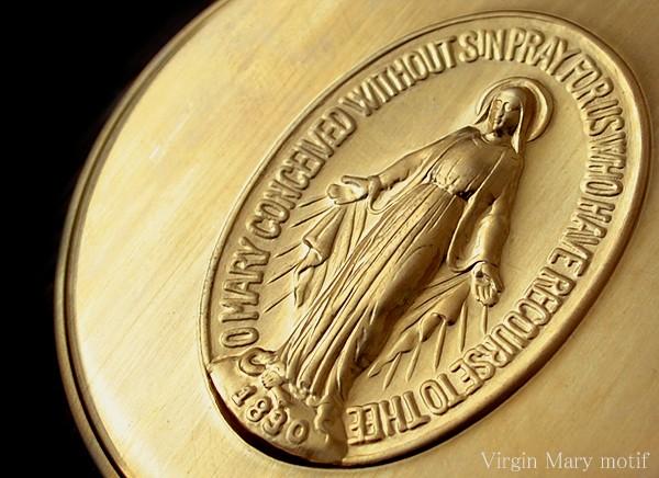 ピルケース アクセサリーケース マリアモチーフ 国産真鍮ケース Mサイズ イメージ写真02