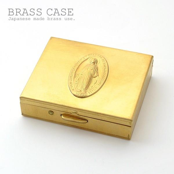 ピルケース アクセサリーケース マリアモチーフ 国産真鍮ケース Mサイズ イメージ写真04