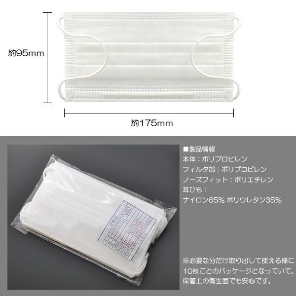 マスク 30枚入り 不織布 三層構造 高密度フィルター99%カット フリーサイズ 花粉 ホコリ ウイルス対策 使い捨て イメージ写真05