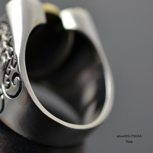 カレッジリング メンズ 真鍮 マリアモチーフ シルバー925 指輪 イメージ写真03