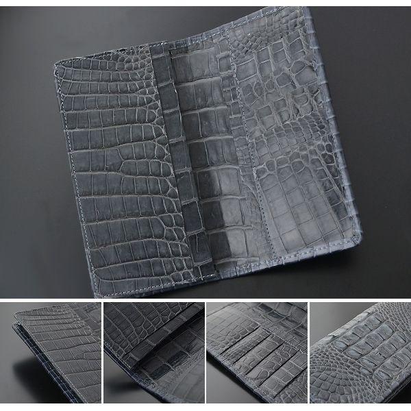 長財布 メンズ 最高級国産レザー クロコダイル 背頭 イメージ写真05