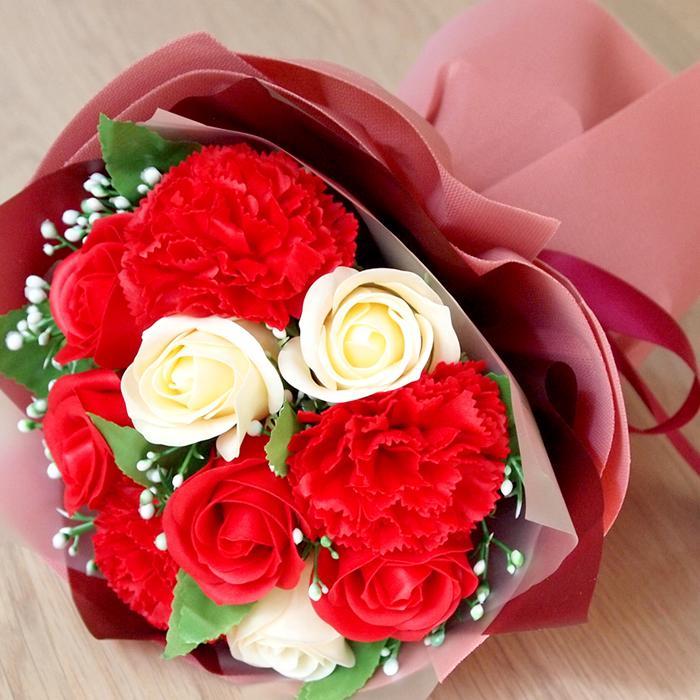 花束 ブーケ ソープフラワー 誕生日 プレゼント バースデー 花 造花 ギフト アレンジメント ひまわり 父の日 薔薇 日時指定OK saika 21