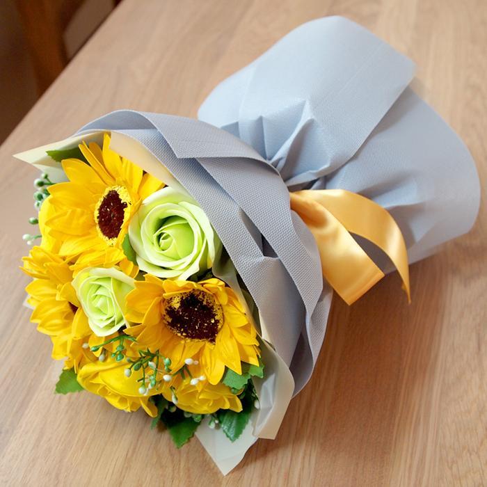 母の日2021 ソープフラワー花束 ブーケ 母の日 プレゼント 花 造花 枯れない ギフト アレンジメント カーネーション フラワーソープ 日時指定OK saika 20