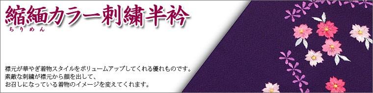 縮緬(ちりめん)カラー刺繍半衿