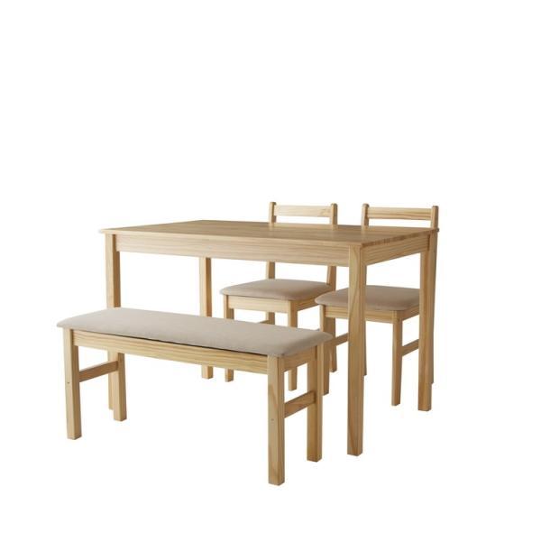 ダイニングテーブル ファミリー 4点 セット ダイニング ベンチ ナチュラル 4点セット おしゃれ 無垢 木製 天然木 Web限定 ST HS セール|sakoda|18