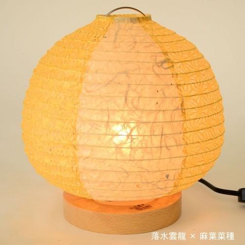 和紙照明 スタンドライト ツインカラー 可愛いお花入り 落水雲龍×麻葉菜種の製品写真