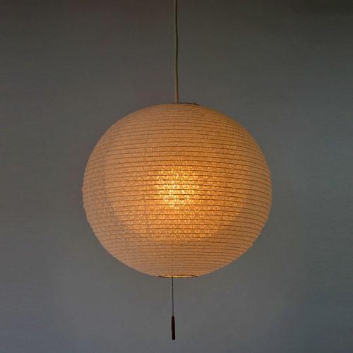 オーダーメイドオーダーメイド和紙照明 1灯ペンダントライト 二重提灯 小梅白in小梅白 直径39cm