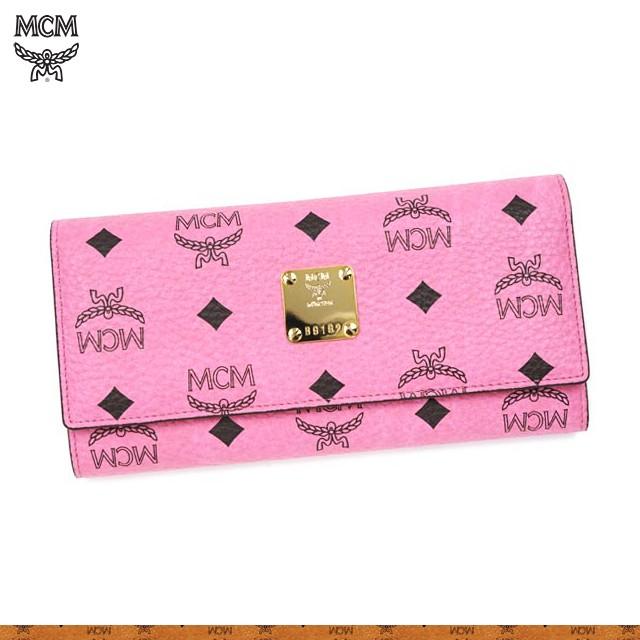 ピンク×MCM柄のお財布