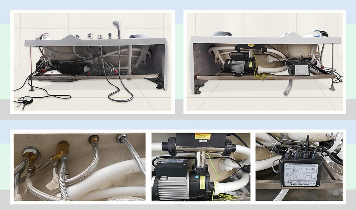 ジェットバス、浴槽、バスタブ、リラックス、疲れを取る、シャワーヘッド、ジェットバス設置、ショールーム、家庭用ジェットバス 水マッサージ パイプ 部品 バスタブの部品 組立 組み立て図 排水栓