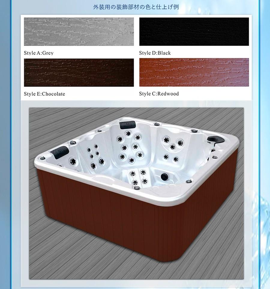 スパ、ジャグジー、ジェットバス、ジェット浴槽、お風呂、SPA、配管、サイズ、標準装備