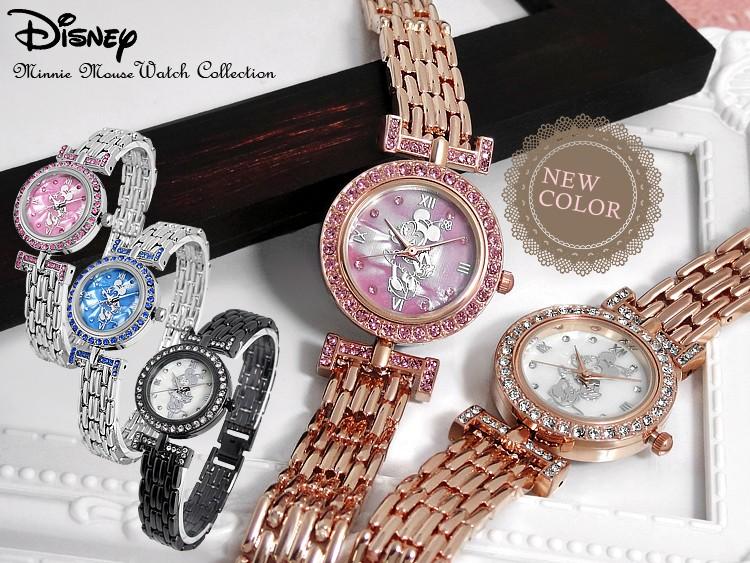 シェル素材文字盤オーラミニー腕時計