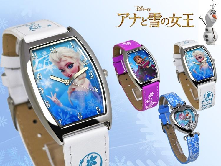 Disney ディズニー アナと雪女王 アナ エルサ オラフ キャラ 腕時計