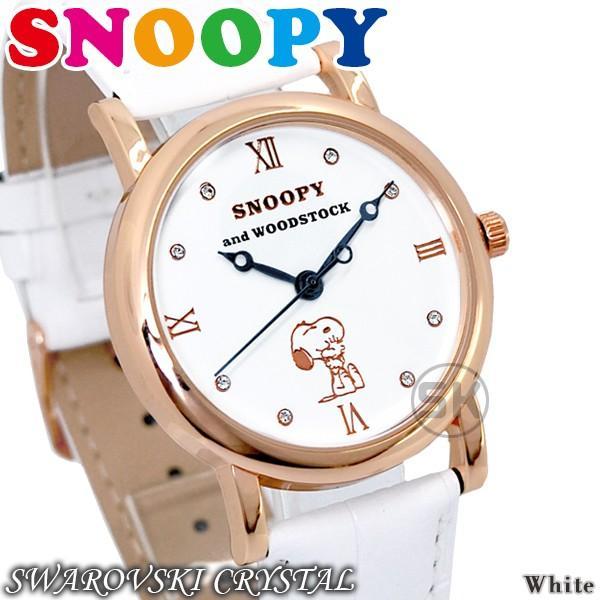 スヌーピー グッズ 腕時計 レディース メンズ スワロフスキー ユニセックス ウッドストック 革 レザー ピーナッツ 犬 鳥 ポイント10倍|salon-de-kobe|23