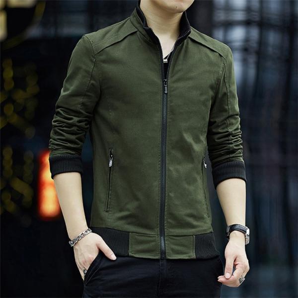 メンズジャケット 2019新作 メンズ アウター メンズファション 格好いい ジップアップ 春服 スタンドカラージャケット アウター 4色 M〜4XL|sami|10