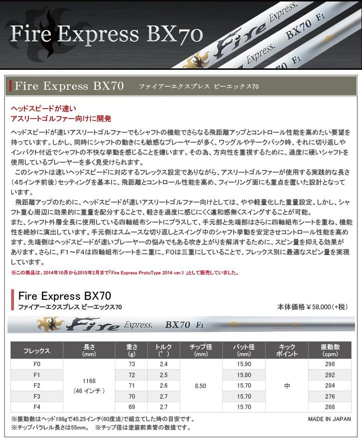 コンポジットテクノ Fire Express BX70 シャフトト