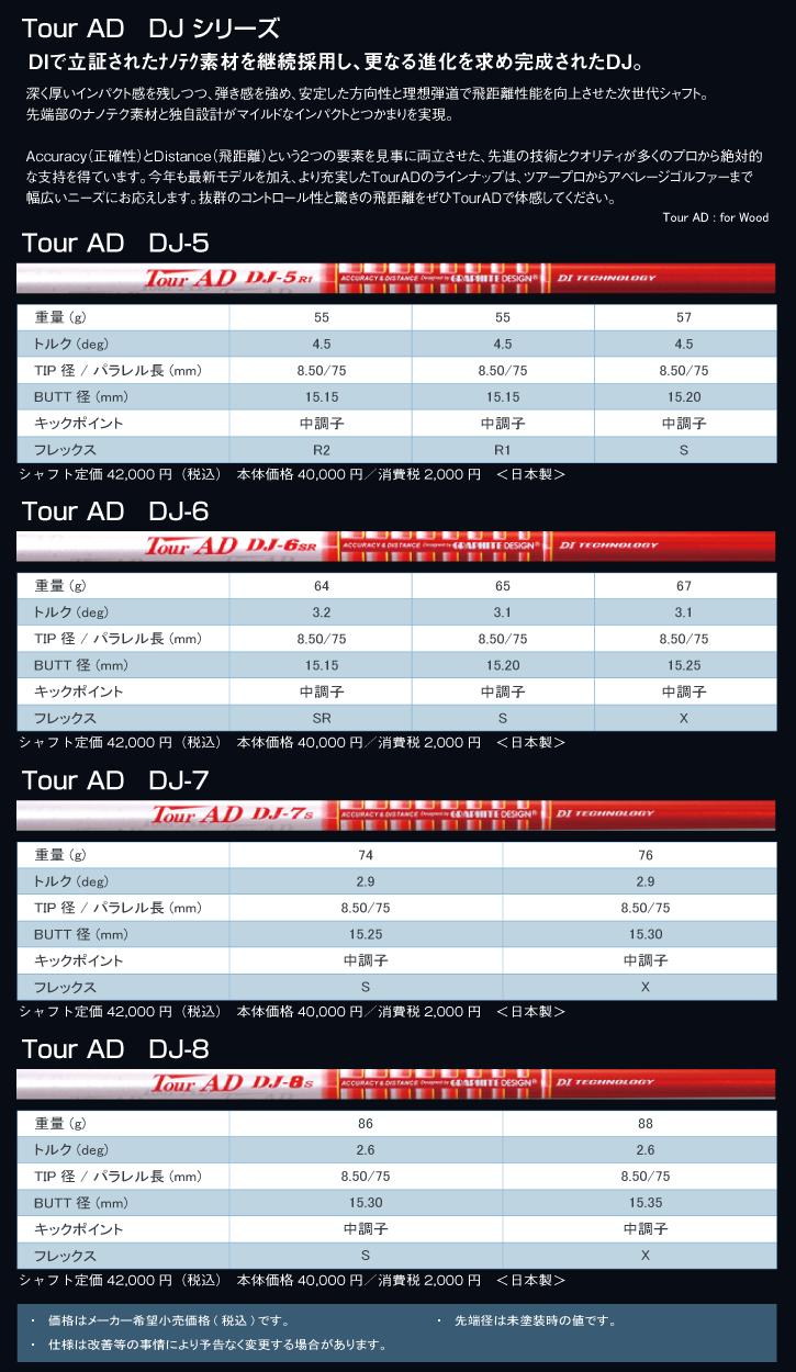グラファイトデザイン Tour AD DJ (ツアーAD DJ)