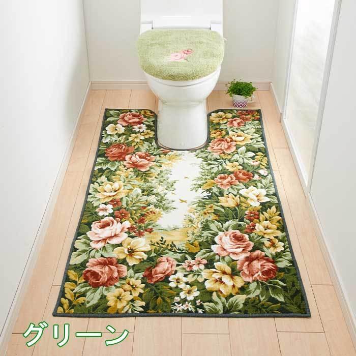 トイレマット 単品 80cm×115cm フラワーガーデン 日本製|san-luna|07