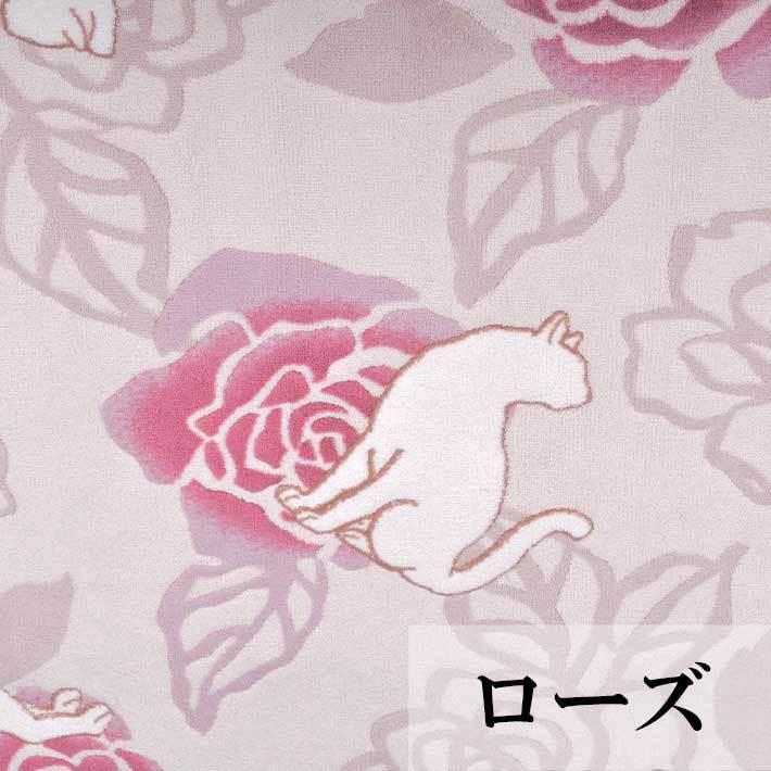 洗える 抗菌・防臭 防滑「ローズ&キャット」ラグ 130×190cm 日本製|san-luna|07