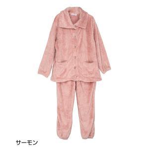 パジャマ レディース ルームウェア モコモコ 部屋着 セットアップ 長袖 冬 モコモコパジャマ もこもこ 上下 ボア ハイネック 袖ゴム 袖絞り 裾ゴム 裾絞り|sancha|18