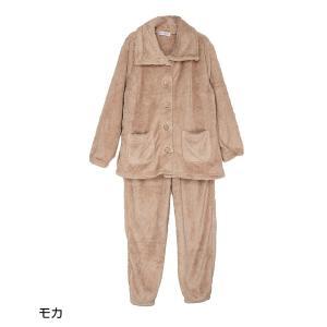 パジャマ レディース ルームウェア モコモコ 部屋着 セットアップ 長袖 冬 モコモコパジャマ もこもこ 上下 ボア ハイネック 袖ゴム 袖絞り 裾ゴム 裾絞り|sancha|19