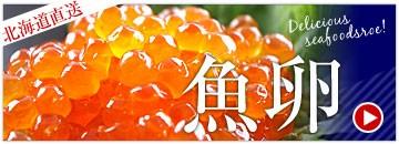 北海道直送の魚卵コーナー