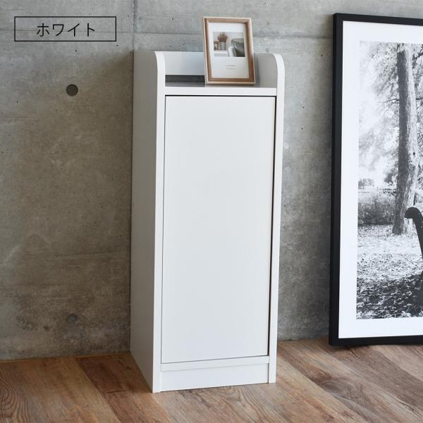 電話台 ルーター収納 ボックス FAX台 スリム 幅30cm コンパクト すきま収納   モデム収納  ブラウン ホワイト 鏡面仕上げ 配線隠し 収納家具 新生活|sancota|10