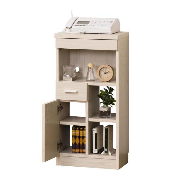 ルーター収納 ボックス FAX台 電話台 スリム ラック 幅40cm コンパクト 完成品 木製 すきま収納 モデム収納 収納家具 ブラウン ホワイト おしゃれ 新生活|sancota|11