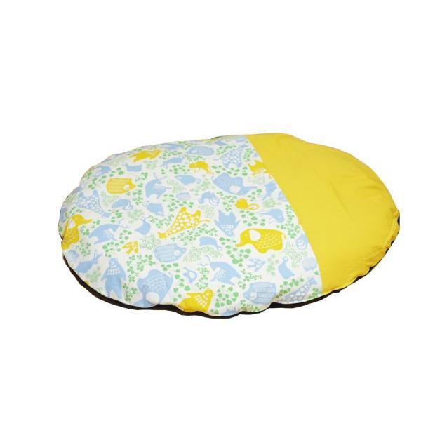 赤ちゃん いねむり 布団 座布団 丸 110cm 出産祝い 新生児 カバーが洗える カバーリング  子供  日本製 国産 せんべい  座ぶとん 洗える ウォッシャブル ゴロ寝|sancota|12