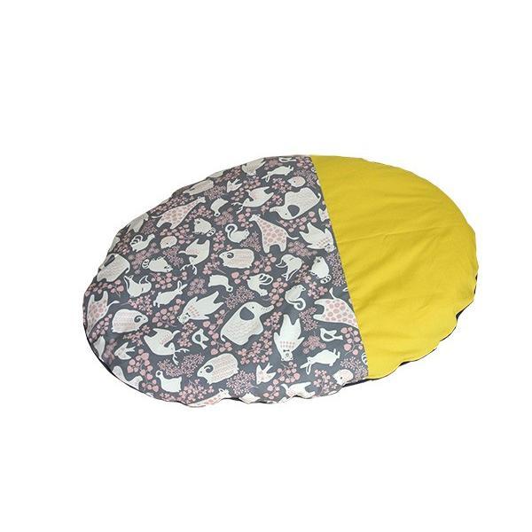 ベビーマット おしゃれ 赤ちゃん マット いねむり 布団 ふとん 座布団 丸 110cm 出産祝い 新生児 消臭 抗菌 綿 100% お昼寝 マット リビング 日本製 洗える|sancota|17