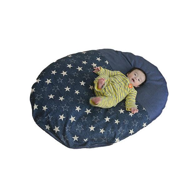 ベビーマット おしゃれ 赤ちゃん マット いねむり 布団 ふとん 座布団 丸 110cm 出産祝い 新生児 消臭 抗菌 綿 100% お昼寝 マット リビング 日本製 洗える|sancota|25