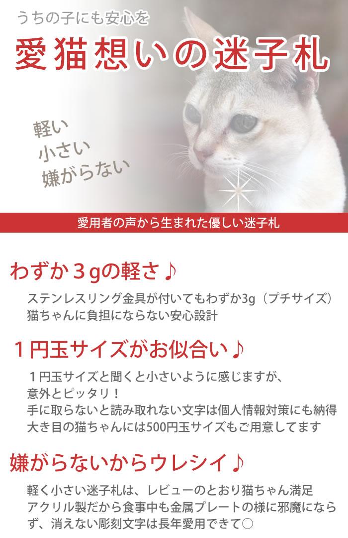 愛猫想いの迷子札
