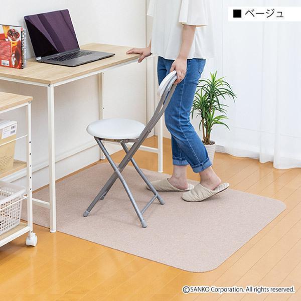 チェアマット デスクカーペット おしゃれ 傷 キズ防止 120×90cm 畳の上 無地 洗える 在宅 日本製 おくだけ吸着 サンコー|sanko-online|20