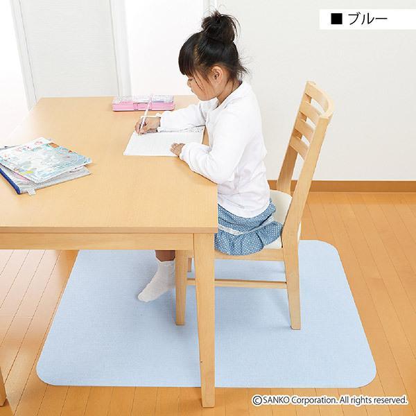 チェアマット デスクカーペット おしゃれ 傷 キズ防止 120×90cm 畳の上 無地 洗える 在宅 日本製 おくだけ吸着 サンコー|sanko-online|21