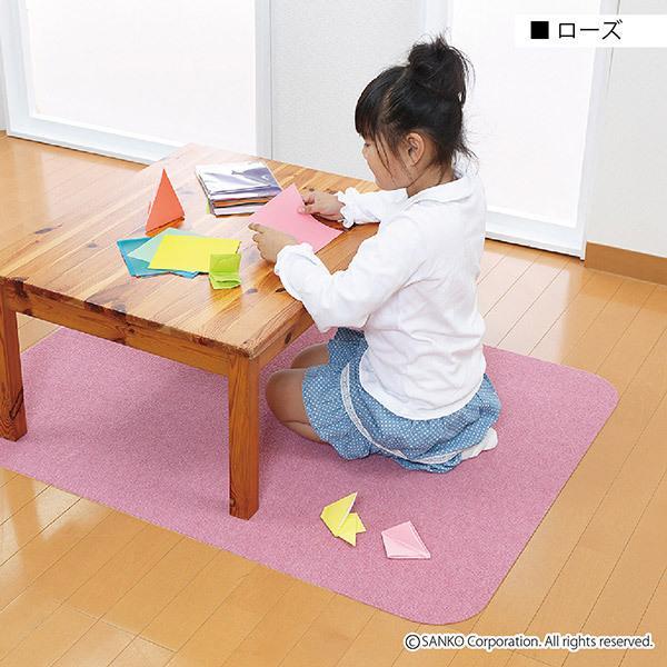 チェアマット デスクカーペット おしゃれ 傷 キズ防止 120×90cm 畳の上 無地 洗える 在宅 日本製 おくだけ吸着 サンコー|sanko-online|22