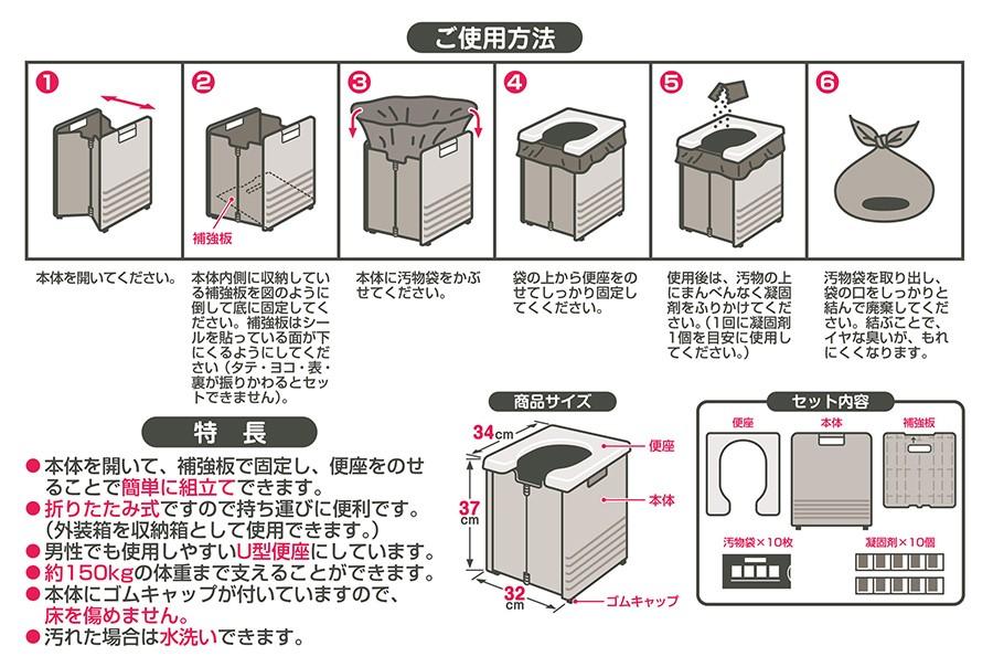 簡単ポータブルトイレ1