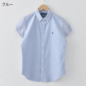 (2021春夏)ジムフレックス Gymphlex オックスフォード 半袖 ボタンダウンシャツ #J-0645YOX ブラウス 半そで レディース 2021SS サンテラボ