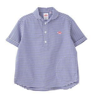(2021春夏) ダントン DANTON 丸襟ポケット付プルオーバー 半袖シャツ #JD-3565TRD 2021SS サンテラボ