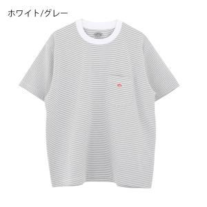 (2021春夏) ダントン DANTON 半袖ポケット付クルーネックTシャツ(ストライプ)STRIPE #JD-9041 2021SS サンテラボ