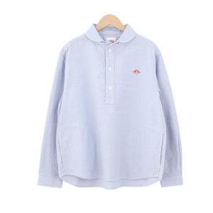 (2021春夏) ダントン DANTON 長袖丸襟ポケット付 プルオーバーシャツ #JD-3564YOX・COC レディース 綿 コットン ブラウス 2021SS サンテラボ