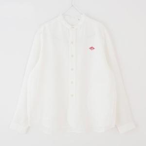 (2021春夏) ダントン DANTON 長袖バンドカラー ポケット付きリネンシャツ #JD-3606KLSスタンドカラー 無地 2021SS サンテラボ