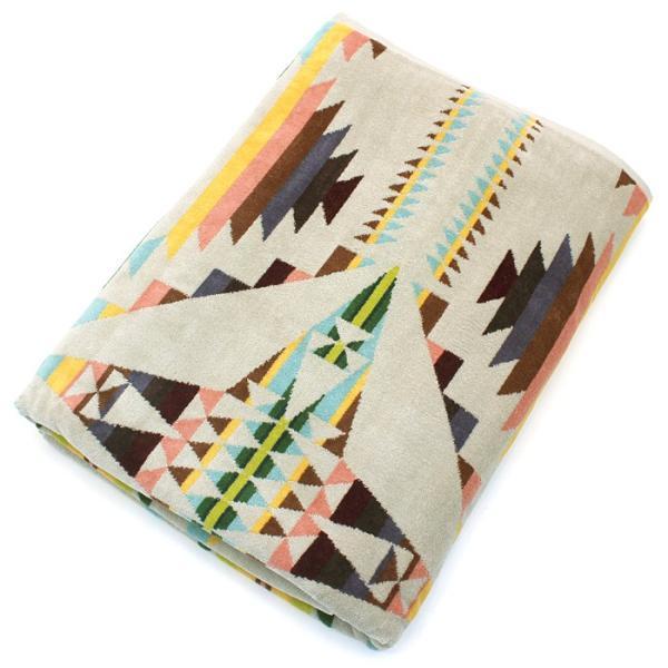 クーポン使えます ペンドルトン PENDLETON タオルブランケット スパタオル XB233 Oversized Jacquard Towels 約101×177cm|santnore|11