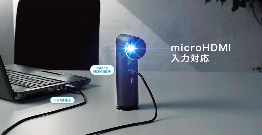 microHDMI入力対応