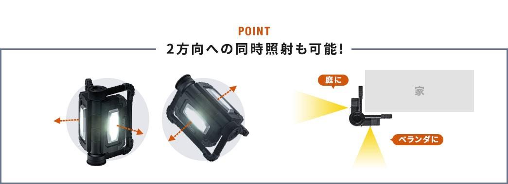 2方向への同時照射も可能