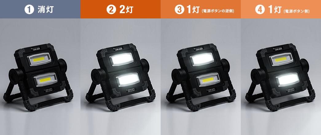 消灯 2灯 1灯(電源ボタンの逆側) 1灯(電源ボタン側)