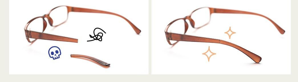 踏んでしまってメガネの柄が しっかり接着、元通り