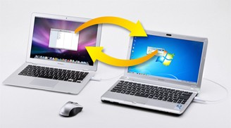 2台のパソコン間でデータ移動が自由自在に