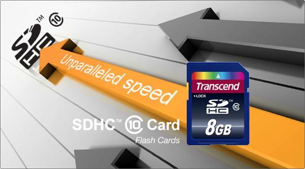 Transcend SDHCメモリカード