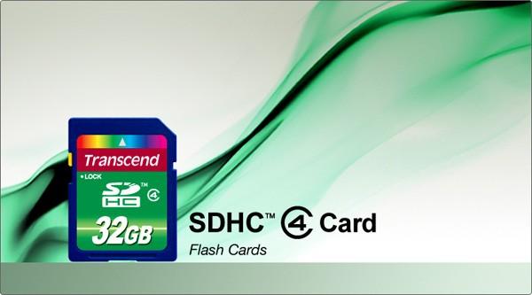 Transcend SDHCカードClass4