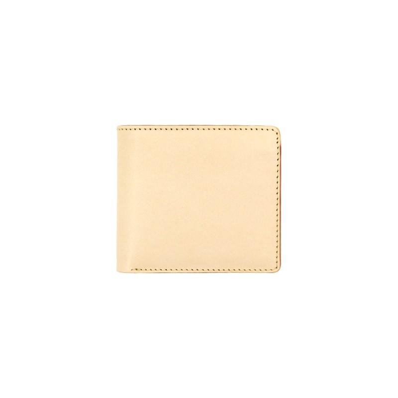二つ折り財布 コインケース付き ヌメ革